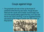 coups against kings