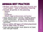 minimum best practices
