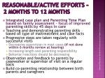 reasonable active efforts 2 months to 12 months