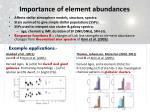 importance of element abundances
