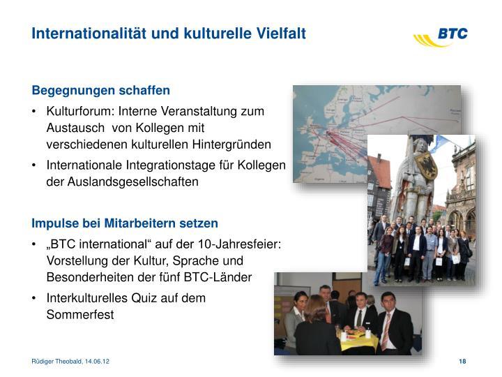 Internationalität und kulturelle Vielfalt
