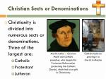christian sects or denominations