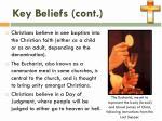 key beliefs cont