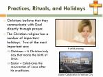 practices rituals and holidays