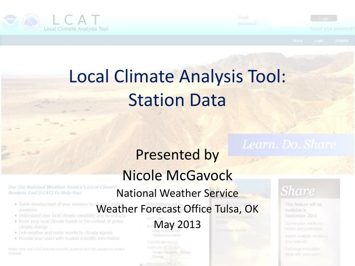 local climate analysis tool station data n.