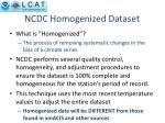 ncdc homogenized dataset