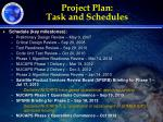 project plan task and schedules