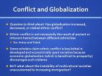 conflict and globalization