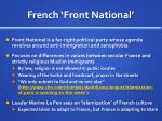 french front national