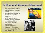 a renewed women s movement