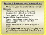 decline impact of the counterculture