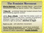 the feminist movement1