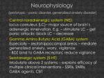 neurophysiology prototypic panic disorder generalized anxiety disorder