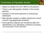 conclusions of population studies