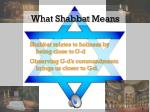 what shabbat means