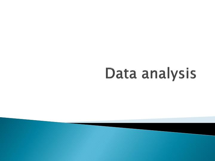 data analysis n.