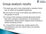 group analysis results