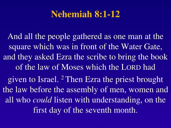 Nehemiah 8 1 12