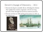 darwin s voyage of discovery 16 1