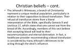christian beliefs cont1