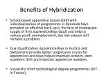 benefits of hybridization