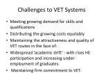 challenges to vet systems