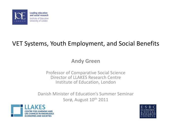 vet systems youth employment and social benefits n.