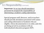 3 1 responsibility continued