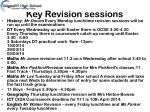 key revision sessions