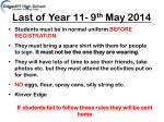last of year 11 9 th may 2014