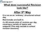what does successful revision look like1
