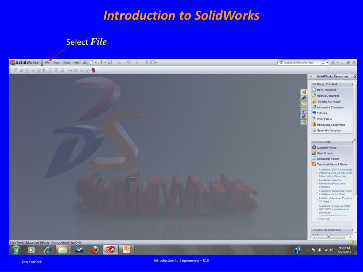 introduction to solidworks n.