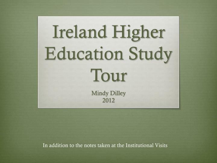 ireland higher education study tour n.