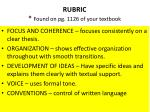 rubric found on pg 1126 of your textbook