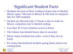 significant student facts