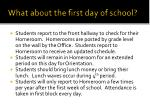 what about the first day of school