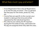 what fees must i pay and when