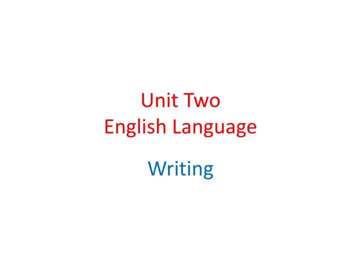 unit two english language n.