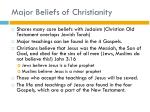 major beliefs of christianity