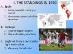 i the standings in 1550