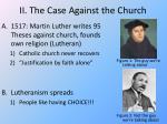 ii the case against the church