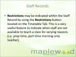 staff records