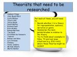 theorists that need to be researched