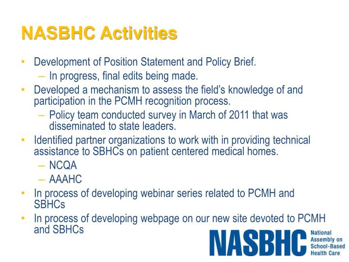 NASBHC Activities
