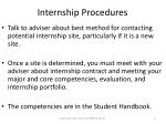 internship procedures