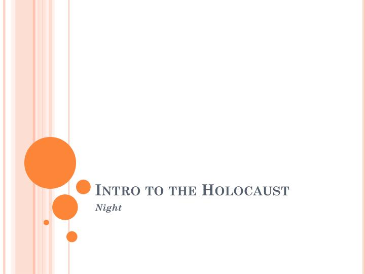 intro to the holocaust n.