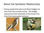 name the symbiotic relationship2