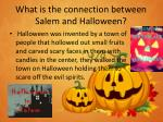 what is the connection between salem and halloween