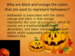 why are black and orange the colors that are used to represent halloween