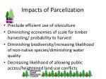 impacts of parcelization